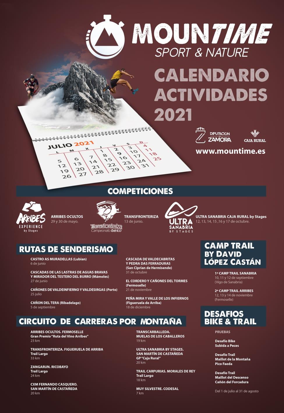 Programa de Actividades Mountime - Calendario 2021